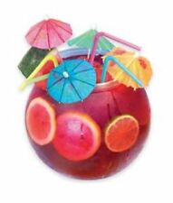 New Cocktail Fish Bowl Drinking Set With Flexi Straws Umbrellas 2.8L Party Juice
