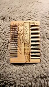 Personalised Wooden Hair Beard Comb Pyrographed