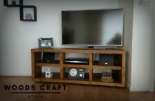 Bespoke Solid Wood Hand Crafted Rustic Corner Tv Stand / Media Unit