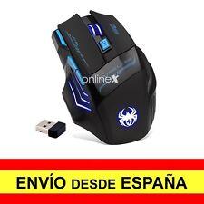 Mouse Inalámbrico Gaming Ratón Óptico 2400 Dpi USB Negro Juegos a2749