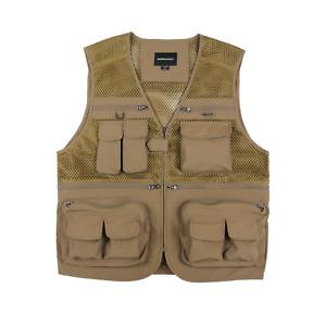 Mororock Fishing Vest Mesh 16 Pockets Photography Quick Dry Waistcoat Jacket