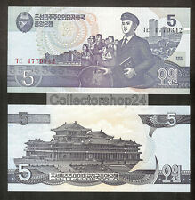 Korea North 5 won 1998 Unc pn 40a