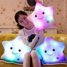 LED Stars Light Colorful Pillows Stuffed Dolls Popular Plush Kids Toys fe37