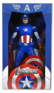 Marvel Movie Avengers Captain America Chris Evans 1/4 Scale Action Figure Neca