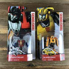 Transformers Bumblebee & Starscream Brand New Hasbro Robot Action Figures Toys