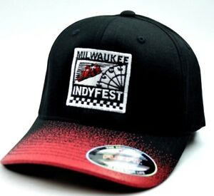 Indycar Milwaukee IndyFest Racing Flex Fit Event Spray Paint Sizes SM/MED LG/XL