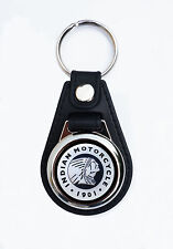 INDIAN MOTORCYCLES FAUX LEATHER KEY RING / KEY FOB CLASSIC INDIAN MOTORCYCLESbwr