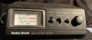 RadioShack SWR Power Tester Meter 21-524 CB Ham Radio 20w 200w 2000w Calibration