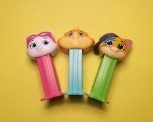 Mini 44 Cats Super New PEZ Candy Dispenser Set - Milady, Meatball & Lampo