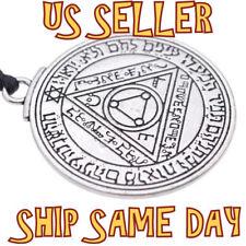 Nuevo Talisman Sol Mágico Solomon Sello Colgante Amuleto Collar de Plata Joyería