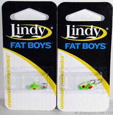 Lindy Fat Boys Ice Jig LFB-1230 Chartreuse Green Glow 2 Packs