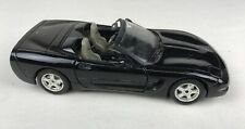 BURAGO Black Stripes CHEVROLET CORVETTE Convertible Open Hood 1:24 Scale