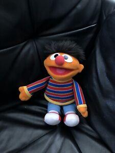 """Vintage Gund Ernie Plush 11"""" Sesame Street 2002 75365 Toy Stuffed Muppet"""