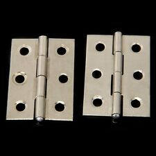 2pcs Stainless Steel 2 Inch 4.4x3.1cm Cabinet Door Hinges Hardware CT W7P5 C7M2