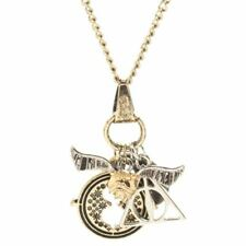 Harry Potter Charm Necklace Pendant with Chain - Time Turner Snitch Hallows