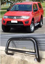 Mitsubishi Triton ML/MN 2006 to 2014 3 Inch Black Steel Low Loop Nudge Bar