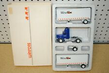 1/64 Winross West Ex Freightliner Double Pup Semi Tractor Trailer