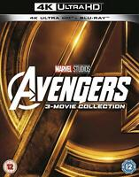 Avengers 3-Movie Collection 4k Blu Ray Region Free Box Set Very Good Condition