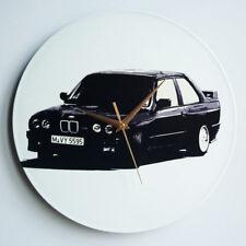 """BMW E30 M3  - 12"""" Vinyl Record Clock, alpina, hartge, e36, e46, 318, 320, 325"""