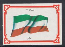 Monty Gum 1980 Flags Cards - Card No 77 - Iran (T655)