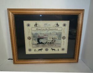 Folk Art Scherenschnitte AMISH PEACEMAKERS PAPER ART Painting - SIGNED