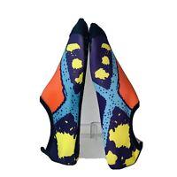 Womens Studio Wrap Ballet Pilates Yoga Flats Slip On Water Shoes Socks Size 8