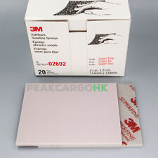 20-PKG 3M Softback Sanding Sponge Hand Abrasive Sheet SUPER FINE GRIT 320-600 UK