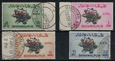 PAKISTAN, BAHAWALPUR, 1949. KGVI UPU OFFICIAL SET, VERY FINE USED, SCARCE.