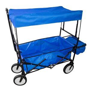 Carro de mano plegable y abatible con techo, carrito de transporte jardin