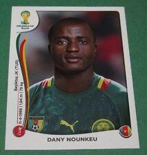 N°94 DANY NOUNKEU CAMEROUN PANINI FOOTBALL FIFA WORLD CUP BRAZIL 2014 BRASIL