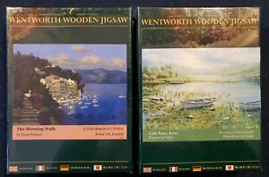 Wentworth Wooden Jigsaw Puzzles The Morning Walk & Lake Boats, Kerry FACTORY...