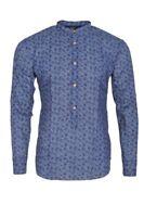 Eleventy Shirt Homme 40 Bleu Sombre  Coton égyptien  À fleurs