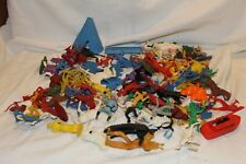 Huge Vintage lot of over 100 Mixed Marx Timmee MPC Plastic Soldiers lot