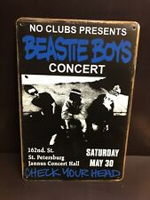 BEASTIE BOYS Concert Poster Vintage Style Small Garage Decor Metal Sign 20x30 Cm