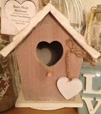Wooden Hanging Birdhouse with Heart