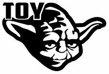 TOY YODA TOYOTA Vinyl Decal Star Wars Wall Car Window Force Rogue Jedi Black