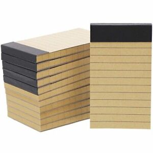 """12Pack Mini Small Pocket Size Notepads Memo Pad Notebooks Lined Paper, 2x4"""""""