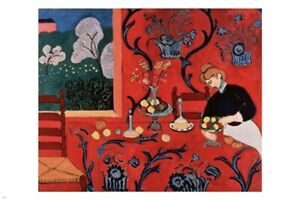 henri matisse THE RED ROOM HARMONY 24X36 fine art poster IMPRESSIONIST rare