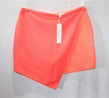 SHILLA Designer Fluoro Orange Mineral Mesh Wrap Mini Skirt Size XL BNWT #SM15