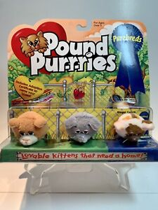 Vintage Pound Purries Purebreds Mini Lot Of 3 (unopened) Ginger Calico + Kittens