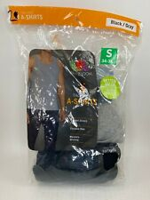Fruit Of The Loom Mens Tag Free A Shirts Tanks - Small - 2 Pack - Black/Gray