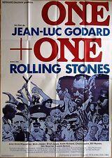affiche ONE + ONE Jean-Luc GODARD * The ROLLING STONES * M. JAGGER * A WIAZEMSKI