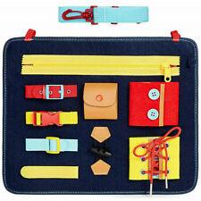 Toddlers Busy Board Montessori Toys Kids Develops Basic Skills Activity Board Uk
