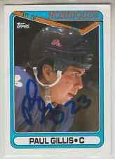 Autographed 90/91 Topps Paul Gillis - Nordiques
