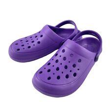 Womens Summer Slippers Nursing Clogs Beach Sandals Garden Shoes Outdoor Purple