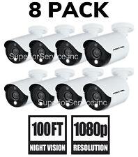 New 8 Pack Night Owl C20XL 1080p Indoor/Outdoor/Add-on Security Camera + Cable