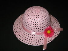 "NEW ""LIGHT PINK DAISY"" Dress Up Party Girls Easter Straw Hat Clothes Toddler Tea"