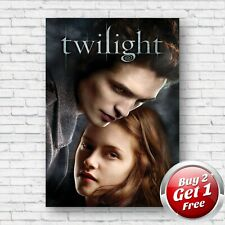 Twilight 2008 Film Movie Poster A4, A3, A3+ Borderless Art Print V2