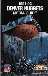 1991-92 DENVER NUGGETS BASKETBALL MEDIA GUIDE