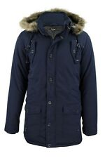 Mens Fishtail Parka Jacket by Firetrap 'Bateman' (Dark Denim, M)